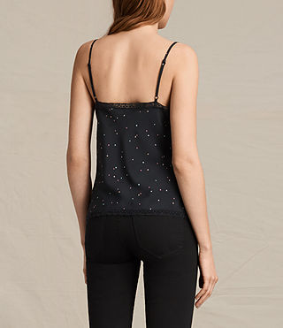 Womens Star Print Cami (Black) - product_image_alt_text_4