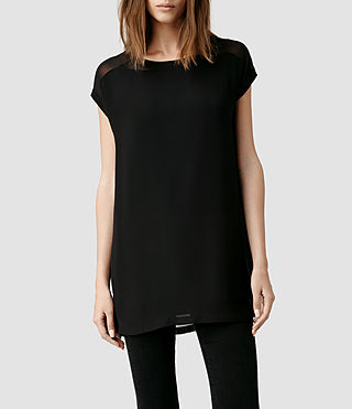 Womens Myrthe Top (Black/Black)