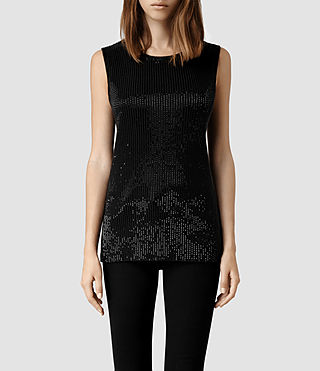 Womens Lovise Top (Black)