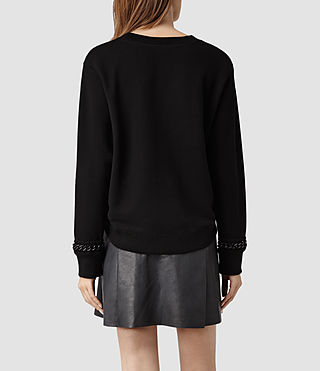 Womens Soph Cropped Sweat (Black) - product_image_alt_text_3