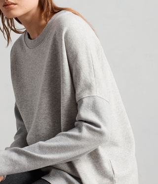 Womens Ivy Crew Sweat (Grey Marl) - Image 2
