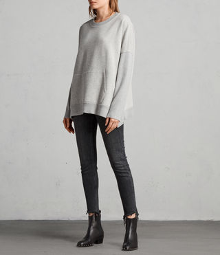 Womens Ivy Crew Sweat (Grey Marl) - Image 3