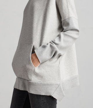 Womens Ivy Crew Sweat (Grey Marl) - Image 4