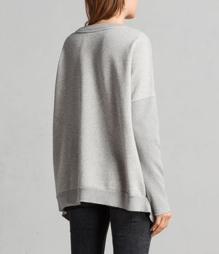 Womens Ivy Crew Sweat (Grey Marl) - Image 5