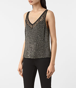 Damen Aivren Embellished Top (Gunmetal/Black) - product_image_alt_text_3