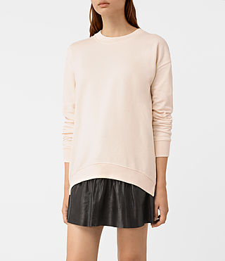 Womens Lea Sweatshirt (Quartz Pink) - product_image_alt_text_1