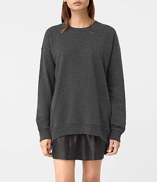 Damen Lea Sweatshirt (Charcoal Marl) -