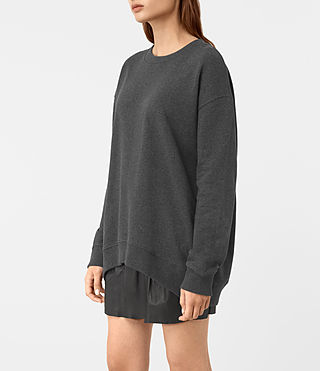 Femmes Lea Sweatshirt (Charcoal Marl) - product_image_alt_text_2