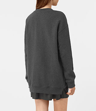 Femmes Lea Sweatshirt (Charcoal Marl) - product_image_alt_text_3