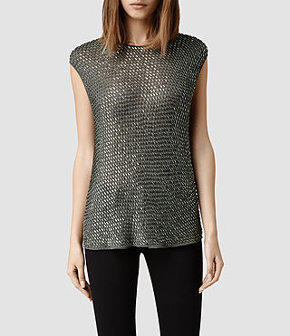 Womens Liza T-shirt (Gunmetal)