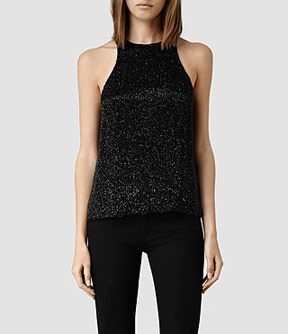 Womens Scarlett Tank (Black)