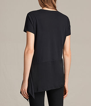 Damen Lauryn T-Shirt (Black/Black) - product_image_alt_text_3