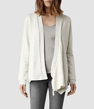 Womens Irina Cardigan (Chalk Grey Marl)