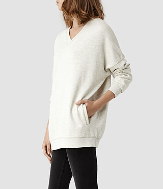 Womens Neru Sweat (Chalk Grey Marl)