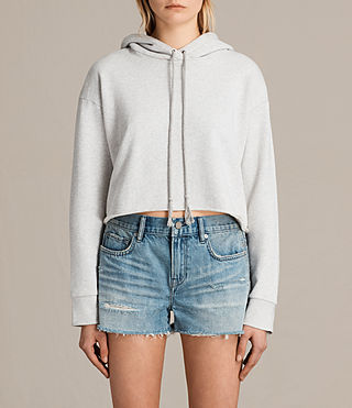 Femmes Sweat à capuche Rea (Light Grey Marl) -