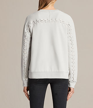 Womens Yara Laced Sweatshirt (ICE WHITE) - product_image_alt_text_1