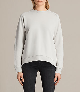 Womens Yara Laced Sweatshirt (ICE WHITE) - product_image_alt_text_3