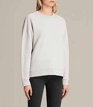 Womens Yara Laced Sweatshirt (ICE WHITE) - product_image_alt_text_4