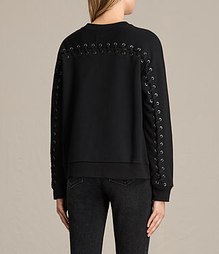 Womens Yara Laced Sweatshirt (Black) - product_image_alt_text_3