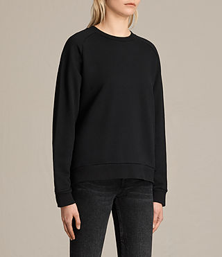 Womens Yara Laced Sweatshirt (Black) - product_image_alt_text_4