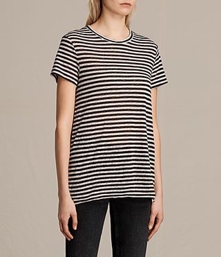 Womens Lake Stripe Tee (BLACK/CHALK) - product_image_alt_text_2