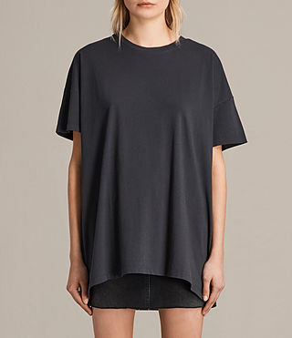 Womens Cora Tee (Washed Black) - product_image_alt_text_1