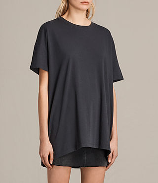 Womens Cora Tee (Washed Black) - product_image_alt_text_2
