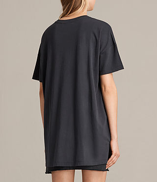 Womens Cora Tee (Washed Black) - product_image_alt_text_3