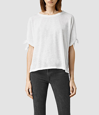 Womens Catkin Tee (Smog/White) - product_image_alt_text_1