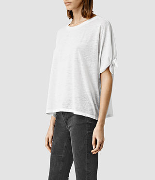 Womens Catkin Tee (Smog/White) - product_image_alt_text_2