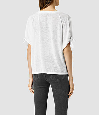 Womens Catkin Tee (Smog/White) - product_image_alt_text_3