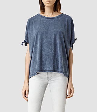 Womens Catkin Tee (DARK NIGHT BLUE) - product_image_alt_text_1