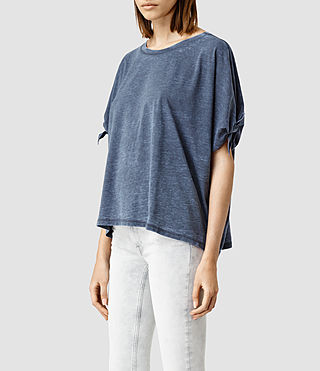 Womens Catkin Tee (DARK NIGHT BLUE) - product_image_alt_text_2