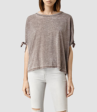 Damen Catkin Tee (WREN BROWN)