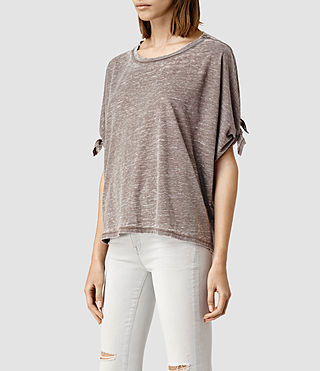 Mujer Catkin Tee (WREN BROWN) - product_image_alt_text_2