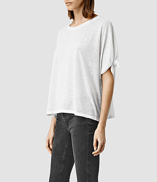 Womens Catkin Tee (SMOG WHITE) - product_image_alt_text_2