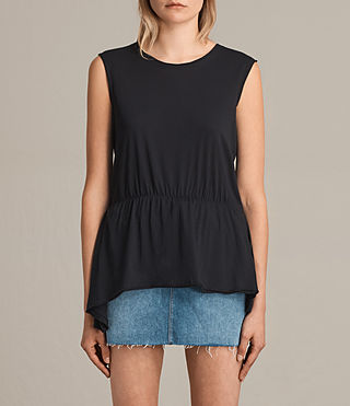 Donne Waisty Tee (Black) -