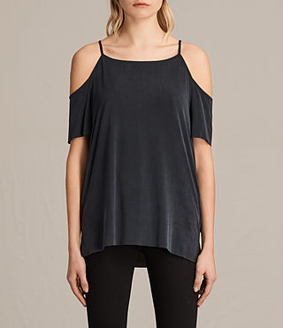 Damen Tyra Top (Washed Black) -