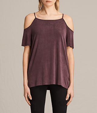 Womens Tyra Top (Burgundy)
