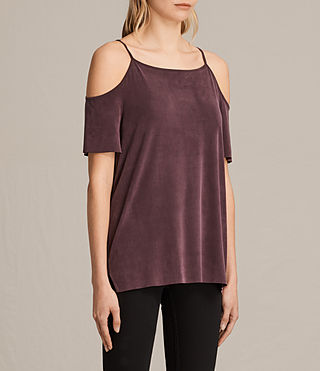 Women's Tyra Top (Burgundy) - product_image_alt_text_2
