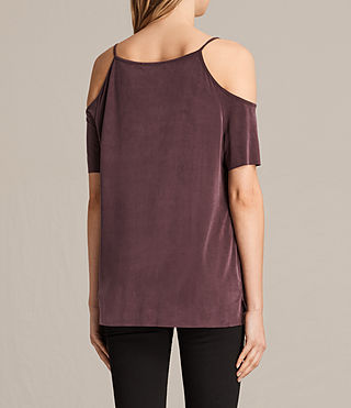 Women's Tyra Top (Burgundy) - product_image_alt_text_3