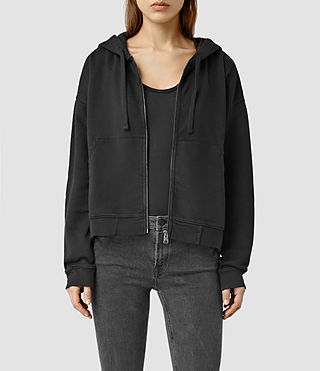 Womens Lo Zip Hoody (Black)