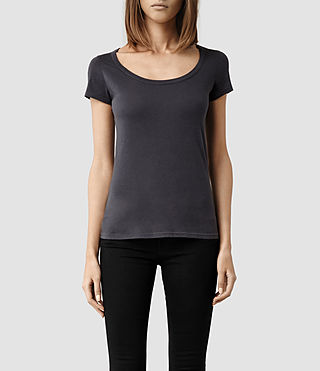 Womens 스탬프 티셔츠 (Washed Black) - product_image_alt_text_1