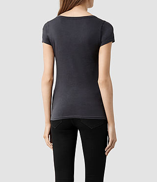 Womens 스탬프 티셔츠 (Washed Black) - product_image_alt_text_3