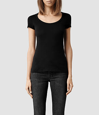 Damen Stam T-shirt (Jet Black)