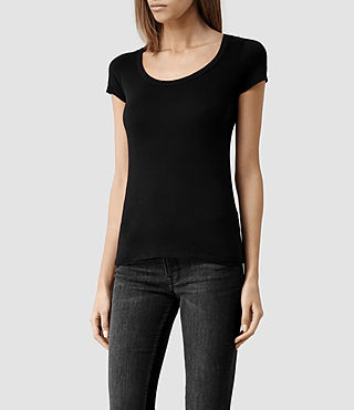Mujer Stam T-shirt (Jet Black) - product_image_alt_text_2