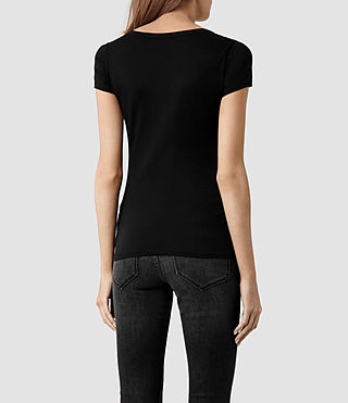 Mujer Stam T-shirt (Jet Black) - product_image_alt_text_3
