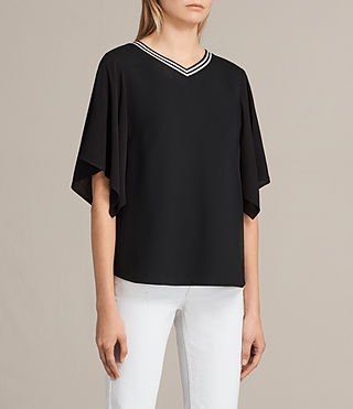 Womens Alice Top (Black) - product_image_alt_text_2