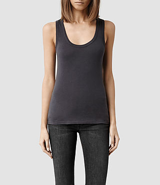 Womens Stam Tank (Washed Black)