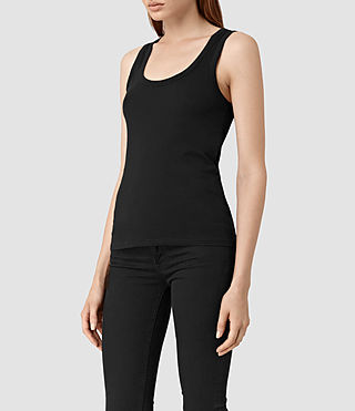 Mujer Stam Tank (Jet Black) - product_image_alt_text_3